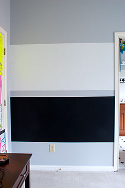 Completed paint project using dry erase and chalkboard paint.