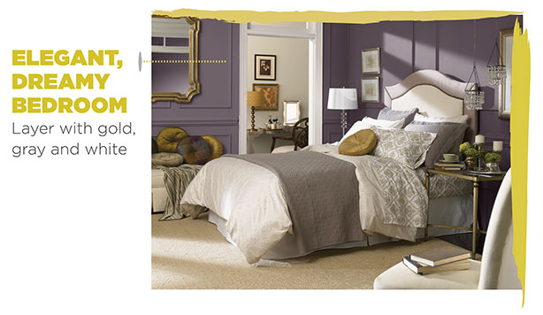 Sherwin-Williams paint color - Exclusive Plum, used in bedroom.