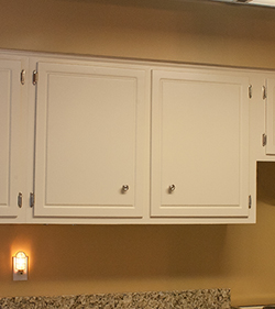 Finished kitchen cabinets in kitchen remodel and makeover.