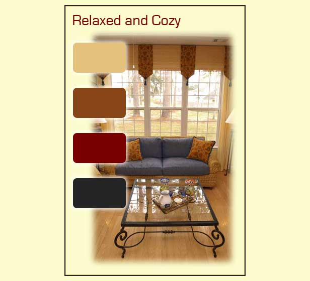 Comfortable paint colors found in a cozy den