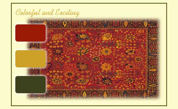 Bold color choices ispired by an oriental rug